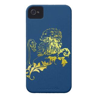 Gold heraldic lion - single phon puts iPhone 4 Case-Mate cases