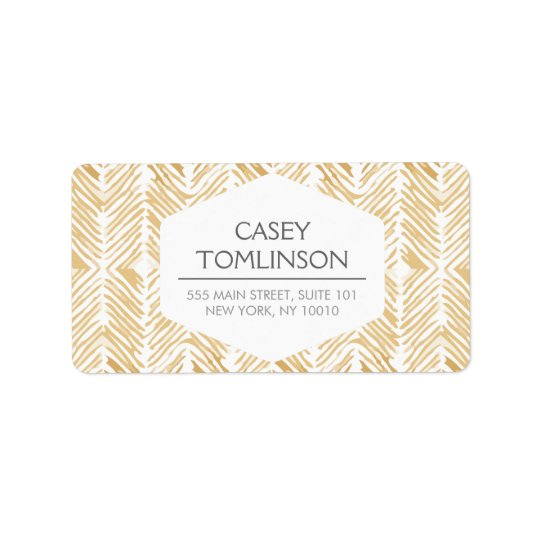 GOLD HERRINGBONE / CHEVRON ARTWORK Address Labels