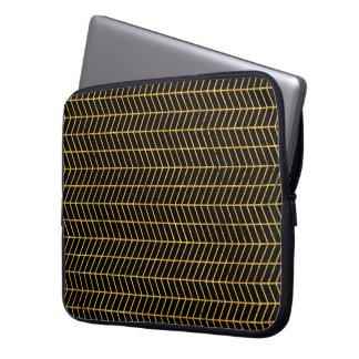 Gold Herringbone Computer Sleeve
