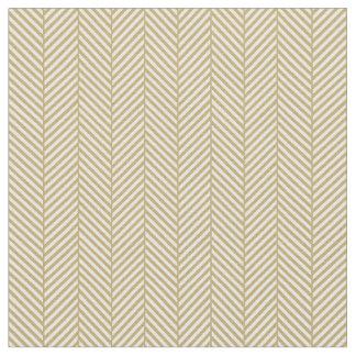 Gold Herringbone Fabric