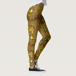 Gold Hieroglyphics Leggings