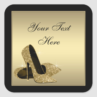 Gold High Heel Shoes Envelope Seal Party Favor