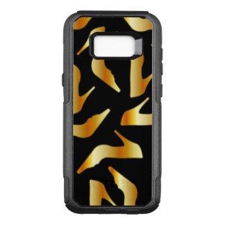 Gold High Heels Pattern Design OtterBox Commuter Samsung Galaxy S8+ Case