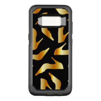 Gold High Heels Pattern Design OtterBox Commuter Samsung Galaxy S8 Case