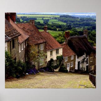 Gold Hill, Dorset Poster