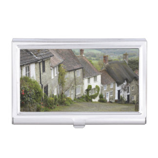Gold Hill, Shaftesbury, Dorset, England, United Business Card Holder
