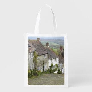 Gold Hill, Shaftesbury, Dorset, England, United Reusable Grocery Bag