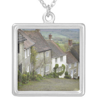 Gold Hill, Shaftesbury, Dorset, England, United Silver Plated Necklace
