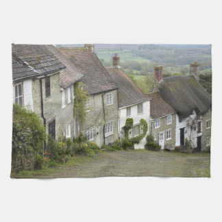 Gold Hill, Shaftesbury, Dorset, England, United Tea Towel