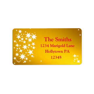 Gold Holiday Custom Address Labels