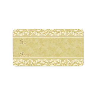 Gold Holiday Gift Labels