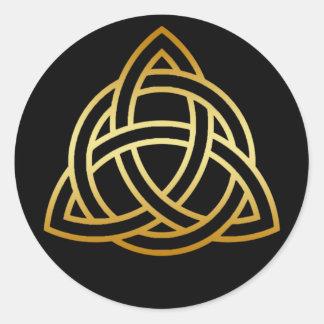 GOLD HOLY TRINITY KNOT STICKER