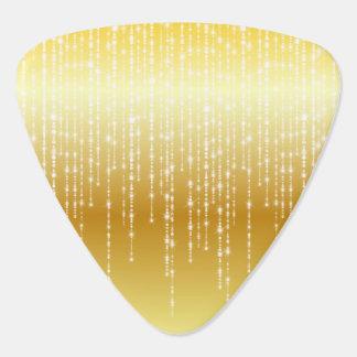 Gold Honey Amber Ombre White Strands Sparkle Plectrum