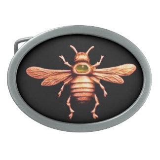 GOLD HONEY BEE OVAL BELT BUCKLES