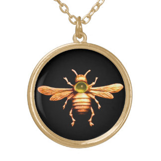 GOLD HONEY BEE NECKLACES