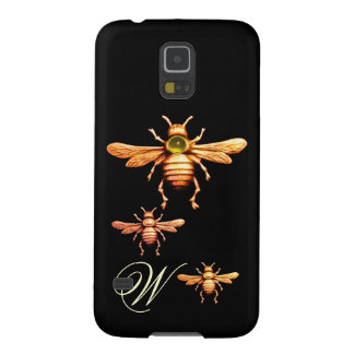 GOLD HONEY BEES MONOGRAM CASES FOR GALAXY S5
