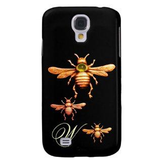 GOLD HONEY BEES MONOGRAM HTC VIVID CASES