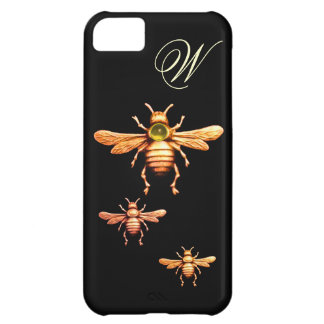 GOLD HONEY BEES MONOGRAM iPhone 5C CASE