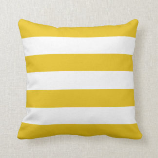 Gold Horizontal Stripes Cushion
