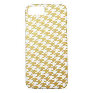 Gold Houndstooth Pattern iPhone 7 Case
