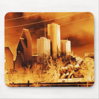 Gold Houston,Texas Mouse Pad