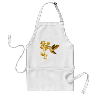 Gold Hummingbird Apron
