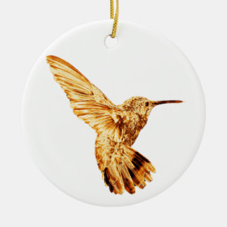Gold hummingbird ornament