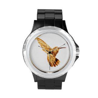 Gold hummingbird women's watch