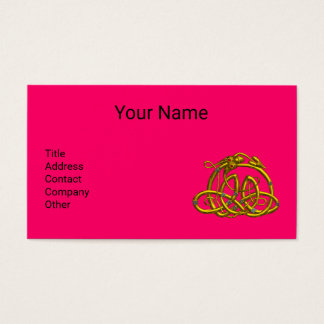 GOLD HYPER DRAGON,CELTIC KNOTS Hot Pink Fuchsia