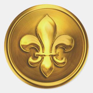 Gold II Fleur de Lis Envelope Seal Embossed Look