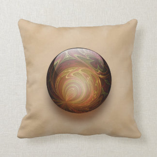 Gold Illuminated Spherical Gem Abstract Cushions