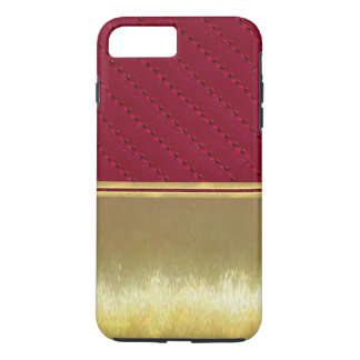 Gold Illusions Burgundy Leather Slim Shell Case