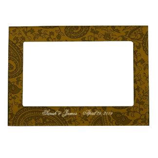 Gold indian damask frame magnets