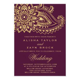 Indian Wedding Invitations Zazzle Co Uk