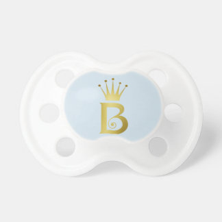 Gold Initial B Letter Monogram Baby Pacifier