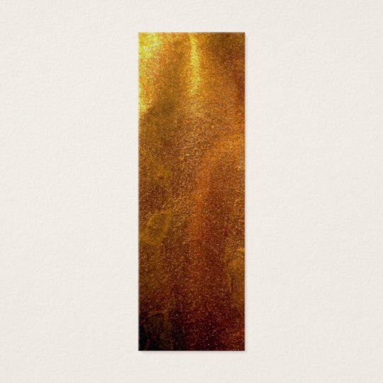 Gold Ink Paper Shiny Texture Mini Business Card