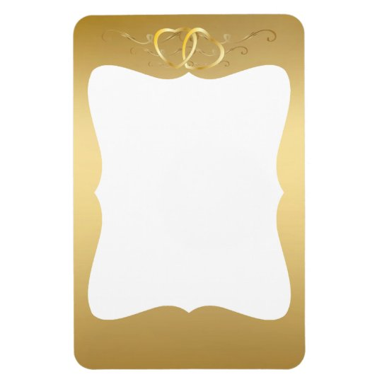 Gold Intertwined Hearts Photo Magnet