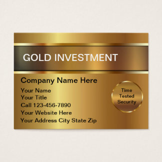 Gold Investment Business Card