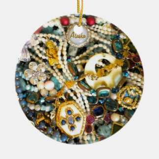 Gold & Ivory Christmas Ornament