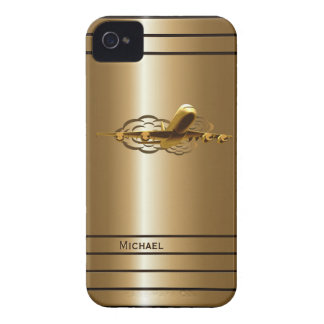 Gold Jet Airliner Aircraft Blackberry Bold Case