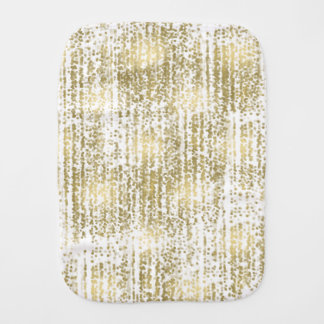 Gold Jewel Bokeh Abstract Baby Burp Cloths
