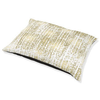 Gold Jewel Bokeh Abstract Pet Bed