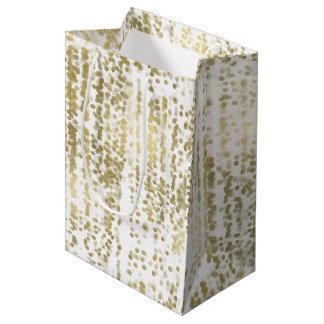 Gold Jewel Bokeh Abstract Wedding Medium Gift Bag