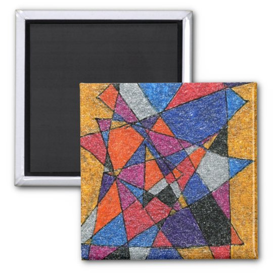 """Gold & Jewels"" Abstract Art Magnet"