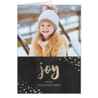 Gold Joy Holiday Greeting Card