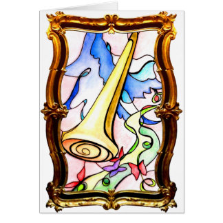 Gold Judgment Greeting Card