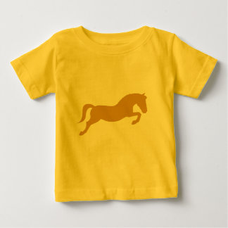 Gold Jumping Pony Baby T-Shirt