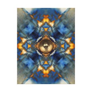 Gold kaleidoscope music speaker canvas print