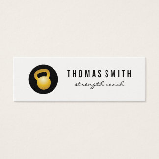 (Gold) Kettle Bell Fitness Trainer Mini Business Card