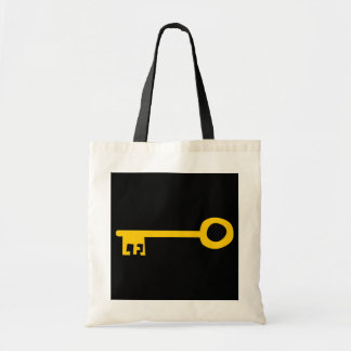 Gold Key on Black Tote Bags